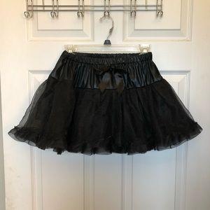 Solid black tutu for Halloween costume